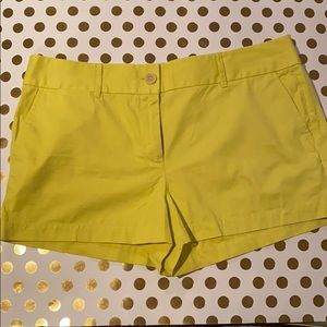 "NEW THE LOFT  RIVIERA SHORTS YELLOW 2"" in SZ 12"